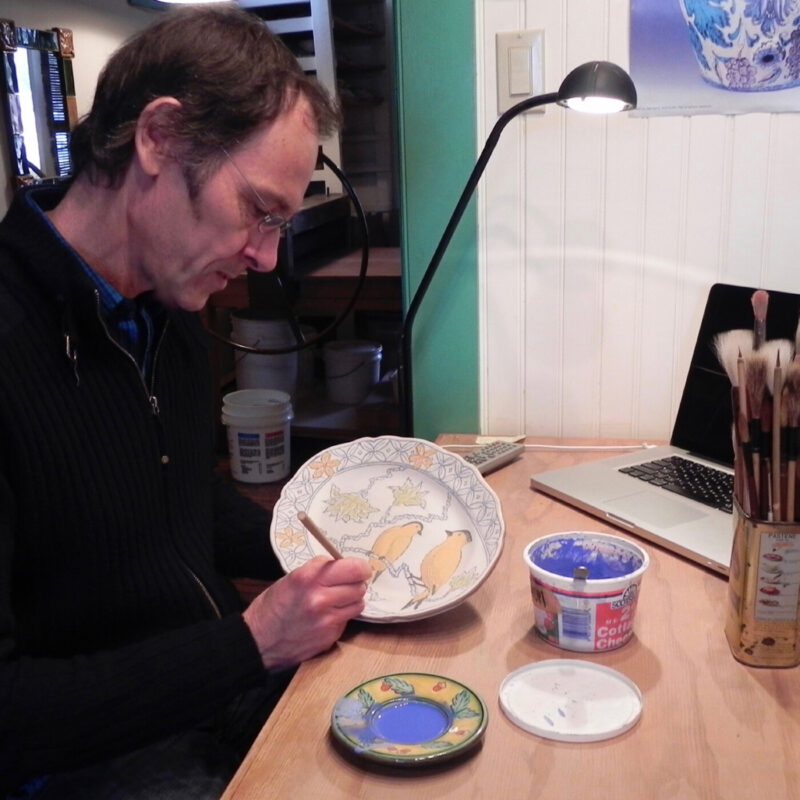 Jim Smith at work in his studio